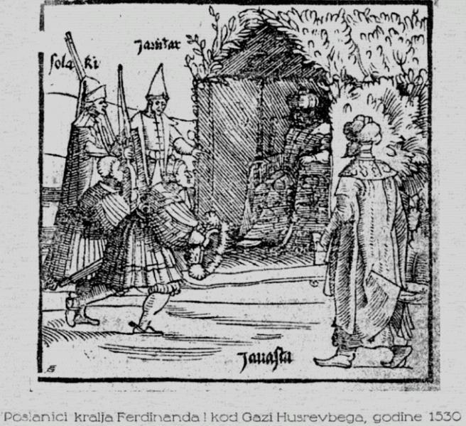 Poslanici kralja Ferdinanda I kod Gazi Husrev-bega 1530. godine