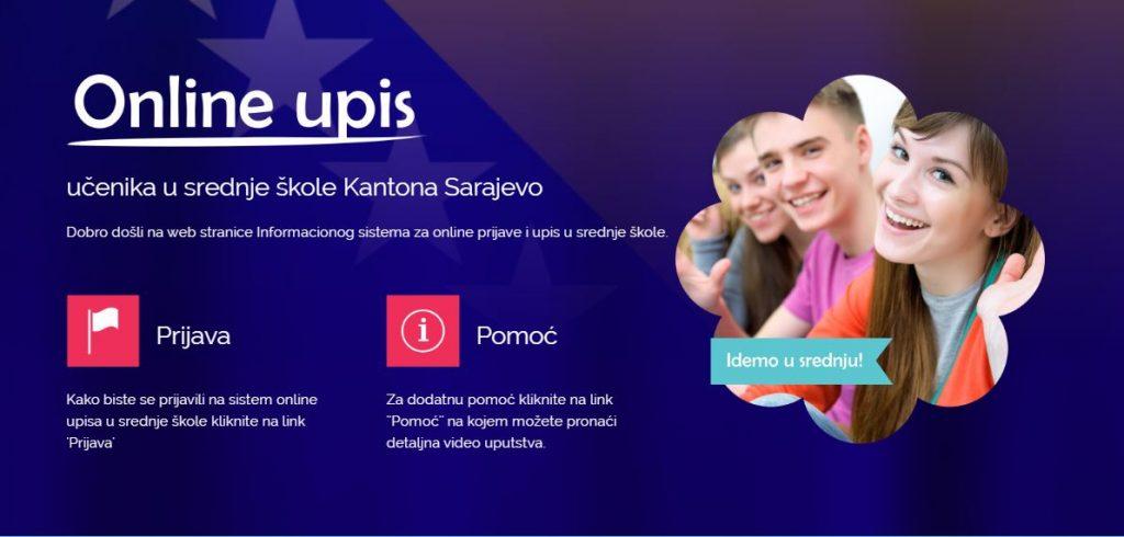 Upis u 1. razred srednje škole na području Kantona Sarajevo u školskoj 2020/2021. godini (EMIS online upis)
