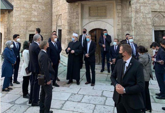 Nj.E. Mevlüt Çavuşoğlu, ministar vanjskih poslova Republike Turske, posjetio Gazi Husrev-begove hajrate
